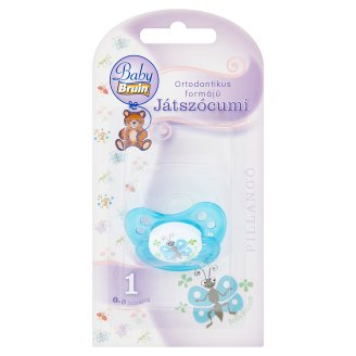Baby Bruin Butterfly Orthodontic Pacifier 1 0-8 Months