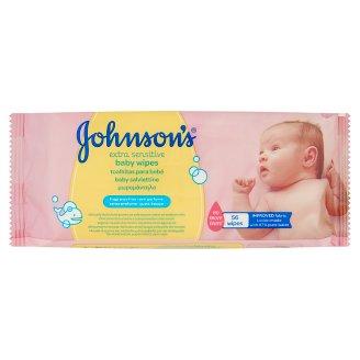 Johnson's Extra Sensitive baba törlőkendő 56 db