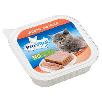 PreVital teljes értékű állateledel felnőtt macskák számára lazaccal és pisztránggal 100 g