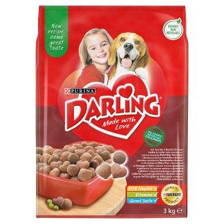 Darling teljes értékű állateledel felnőtt kutyák számára hússal és zöldségekkel 3 kg
