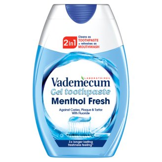 Vademecum 2in1 Menthol Fresh Toothpaste and Mouthwash 75 ml