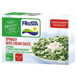 FRoSTA Quick-Frozen Spinach with Cream Sauce 450 g