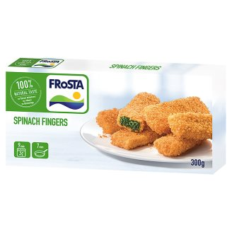 FRoSTA Quick-Frozen Spinach Fingers with Edami Cheese in Crunchy Breadcrumbs 300 g