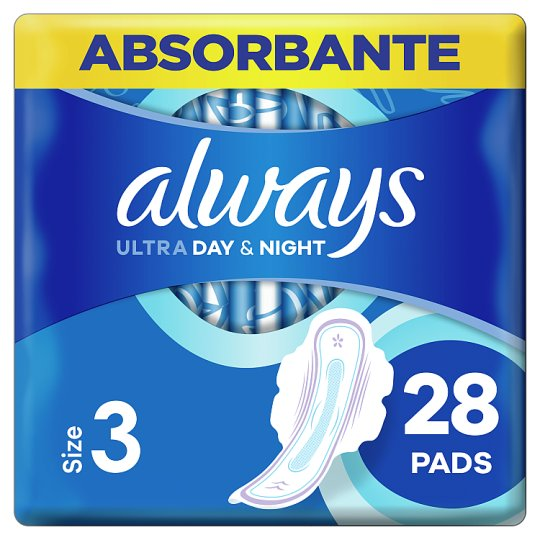 Always Ultra Night (Size 3) Sanitary Towels Wings 28 Pads