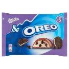 Milka&Oreo alpesi tejcsokoládé kakaós kekszdarabokkal és vaníliaízű tejes krémtöltelékkel 5 db 185 g