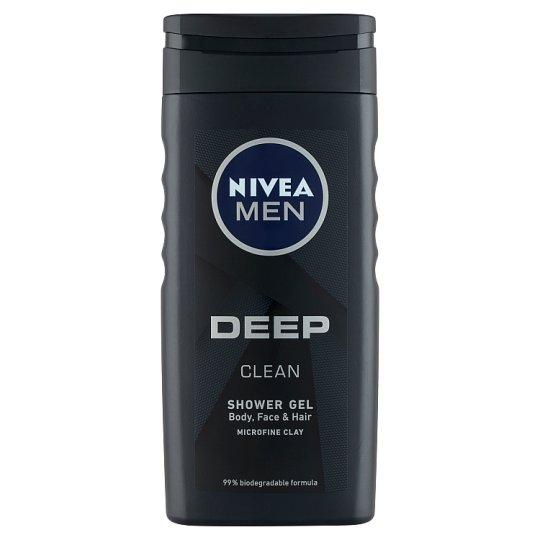 NIVEA MEN Deep Clean tusfürdő tusoláshoz, arc- és hajmosáshoz 250 ml