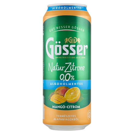 Natur Zitrone Non-Alcoholic, Mango-Lemon Flavoured Carbonated Drink 0,5 l Can