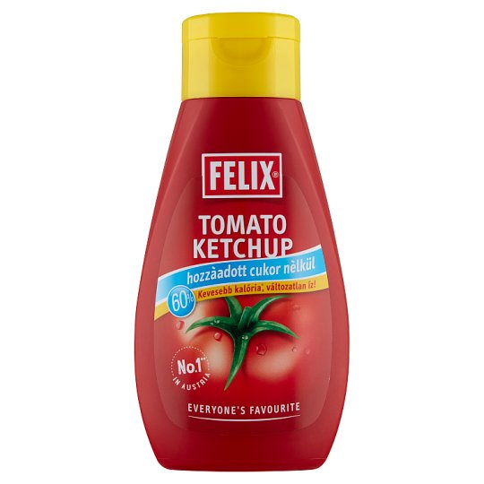 Felix Tomato Ketchup with No Added Sugar and Sweetener 435 g