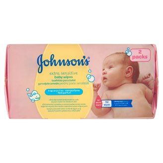Johnson's Extra Sensitive baba törlőkendő 112 db
