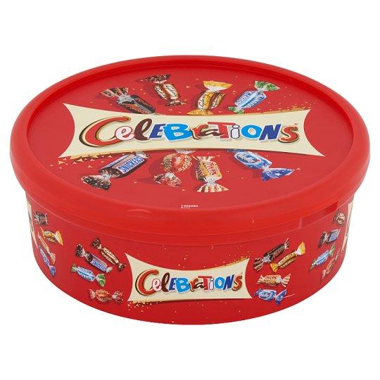 Celebrations vegyes töltött és kekszes tejcsokoládé 650 g