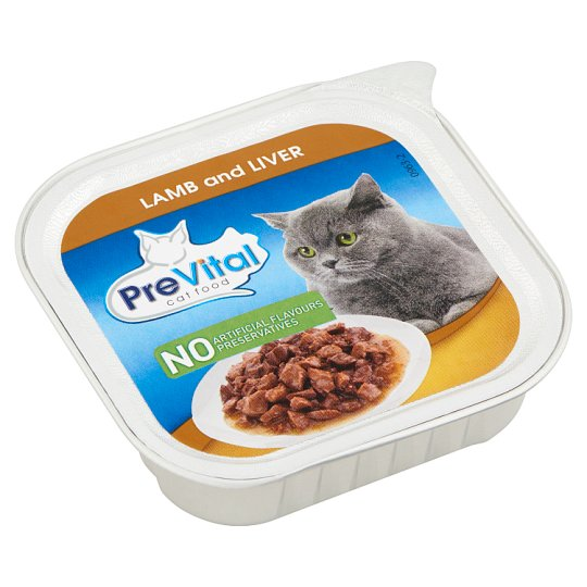PreVital Complete Pet Food for Adult Cats with Lamb and Liver 100 g