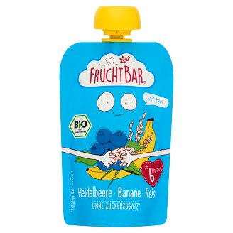 FruchtBar Organic Blueberry with Banana and Rice Baby Dessert 6+ Months 100 g