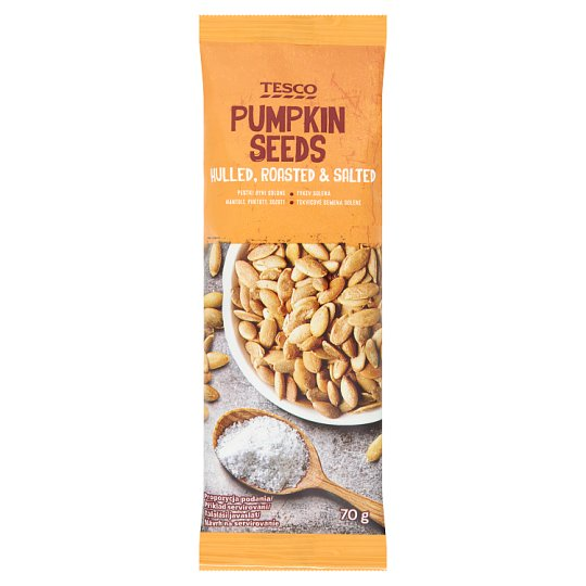 Tesco Hulled, Roasted & Salted Pumpkin Seeds 70 g