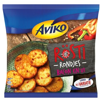 Aviko Pre-Fried and Quick-Frozen Hash Browns with Ham and Onion 450 g