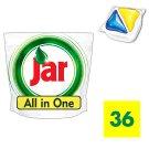 Jar All In One Lemon Mosogatógép Kapszula 36 darabos kiszerelés
