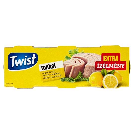 Twist tonhaltörzs növényi olajban, citrom ízesítéssel 3 x 80 g