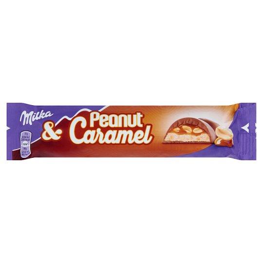 Milka Alpine Milk Chocolate with Peanut Caramel Fillings 37 g