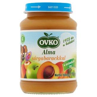 Ovko alma sárgabarackkal bébidesszert 4 hónapos kortól 190 g