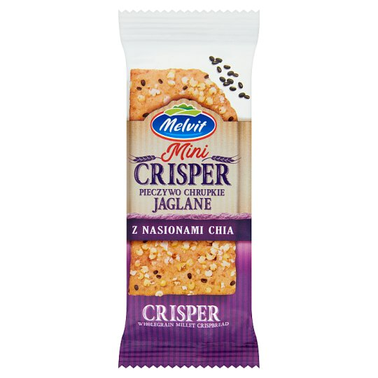 Melvit Mini Crisper Wholegrain Millet Crispbread with Chia Seeds 30 g