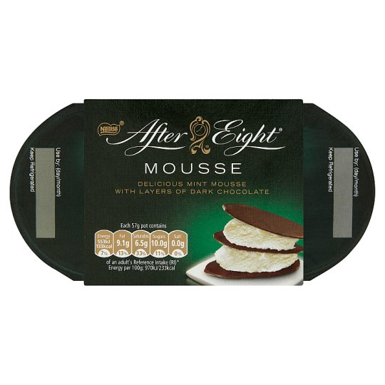 Nestlé After Eight Mousse Mint Flavoured Mousse with Dark Chocolate 4 x 57 g