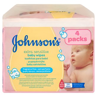Johnson's Extra Sensitive Baby Wipes 224 pcs