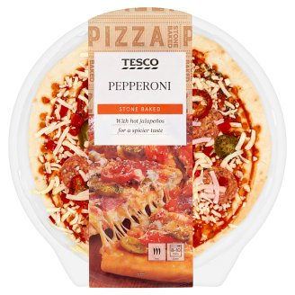 Tesco Pepperoni Pizza with Hot Jalapenos 388 g