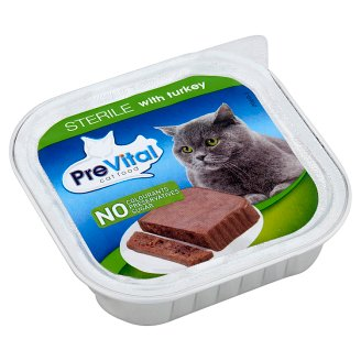 PreVital Complete Pet Food for Sterile Cats with Turkey 100 g