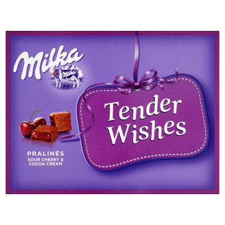 Milka Tender Wishes Sour Cherry & Cocoa Cream Pralinés 110 g