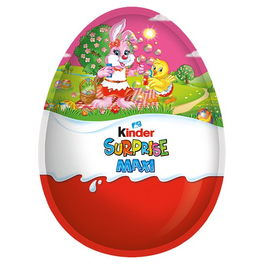 Kinder Surprise Maxi Fine Milk Chocolate Shell with Milky White Lining With Toy for Girls 220 g