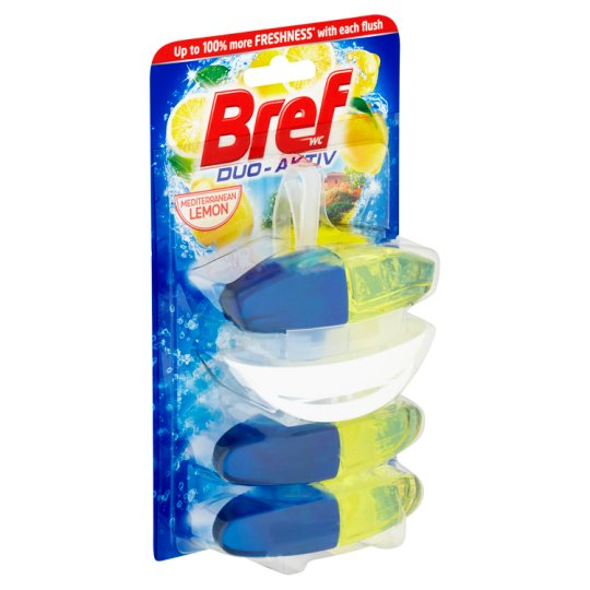 Bref Duo-Aktiv Mediterranean Lemon Toilet Block 3 x 50 ml