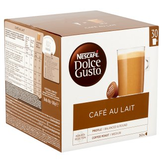 Nescafé Dolce Gusto Café Au Lait Café Con Leche Whole Milk Powder with Instant Coffee 30 pcs 300 g