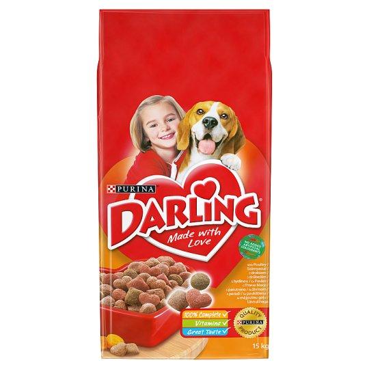 Darling teljes értékű állateledel felnőtt kutyák számára szárnyassal 15 kg