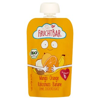 FruchtBar Organic Mango with Orange, Coconut and Banana Baby Dessert 6+ Months 100 g
