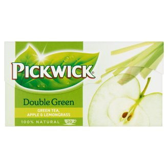 Pickwick Double Green Flavoured Green Tea with Lemongrass and Apple 20 Tea Bags 30 g