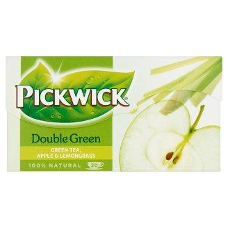 Pickwick Double Green almaízű zöld tea indiai citromfűvel 20 filter 30 g