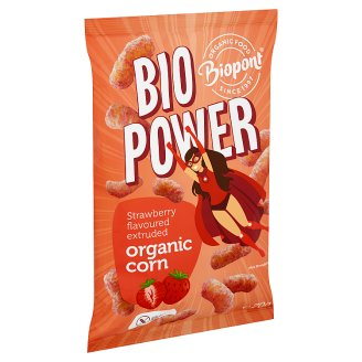 Biopont Bio Power Organic Gluten-Free Strawberry Flavoured Extruded Corn 70 g