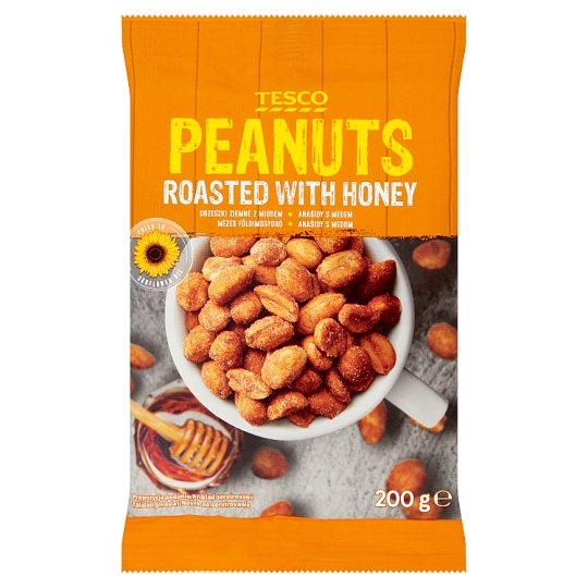 Tesco Roasted Peanuts with Honey 200 g