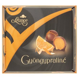 Szamos Pearl Praline Milk Chocolate Ball Filled with Orange Cream 9 pcs 125 g