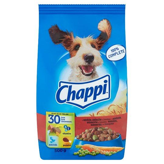 Chappi teljes értékű eledel felnőtt kutyák számára marhahússal, baromfihússal és zöldségekkel 500 g
