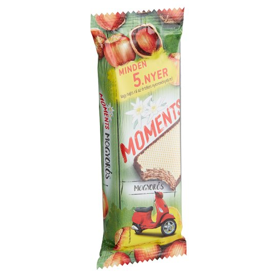 Moments Cocoa Coated Crispy Wafers with Hazelnut Cream Filling 50 g