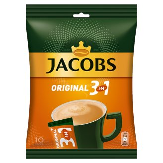 Jacobs Original 3in1 Instant Coffee with Sugar and Whitener 10 pcs 152 g