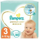 Pampers Premium Care Size 3, Nappy x60, 6kg-10kg