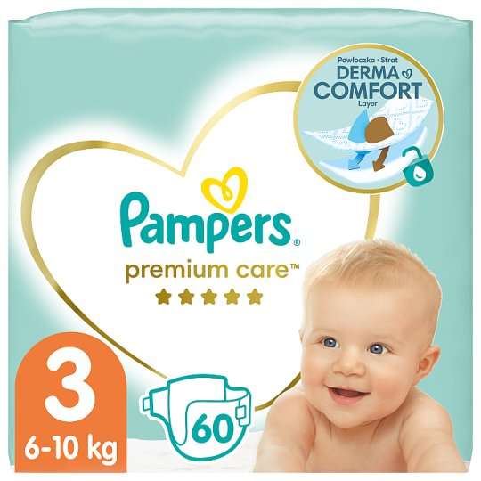 Pampers Premium Care, 3-as Méret (Midi), 5-9 kg, 60 Darabos Kiszerelés