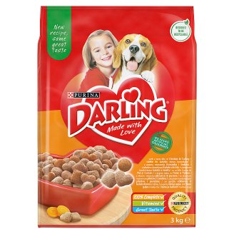 Darling Complete Pet Food for Adult Dogs with Poultry and Vegetables 3 kg