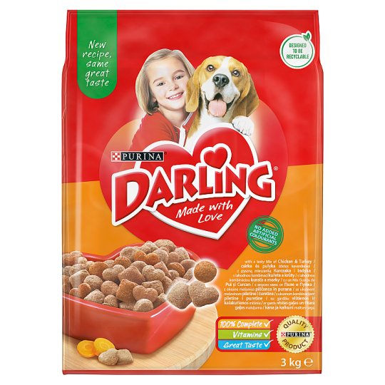 Darling Complete Pet Food for Adult Dogs with Poultry 3 kg