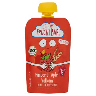 FruchtBar Organic Apple-Raspberry with Cereal Dessert for Babies 6+ Months 100 g