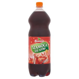 Sconto Energy-Free Strawberry Flavoured Syrup with Sweeteners 2 l