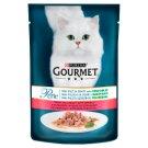 Gourmet Perle teljes értékű állateledel felnőtt macskáknak pisztránggal, szószban spenóttal 85 g