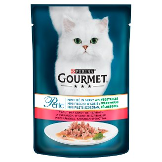 Gourmet Perle Complete Pet Food for Adult Cats with Trout and Spinach 85 g