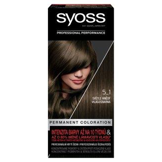 Syoss 5-1 Világosbarna tartós hajfesték